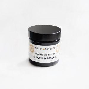 Peeling do twarzy z pyłem bursztynowym peach & amber 60 ml Idunn Naturals